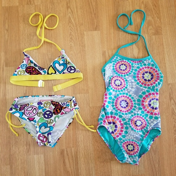 83414642bd5cd Girls Swimsuits Bundle 6 6x